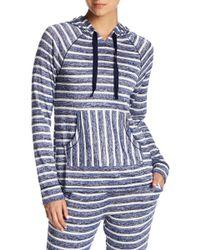 Kensie - Stripe Knit Sweater Pajama Hoodie - Lyst