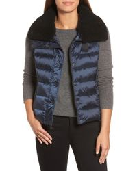 UGG - Genuine Shearling Trim Down Vest - Lyst