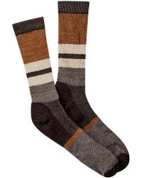 Smartwool - Distressed Stripe Crew Socks - Lyst