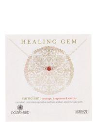 Dogeared - Sterling Silver Healing Gem Carnelian Station Necklace - Lyst