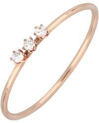 Bony Levy - 18k Rose Gold Triple Prong Set Diamond Ring - 0.03 Ctw - Lyst