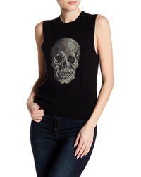 Skull Cashmere - Front Skull Sleeveless Cashmere Pullover - Lyst