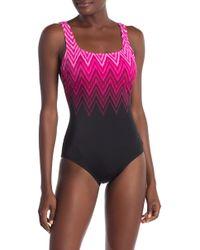 Reebok - Electric Lighting One-piece Swimsuit - Lyst