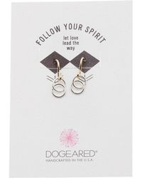 Dogeared - Let Love Lead The Way Dangle Earrings - Lyst