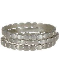 Dogeared - Sterling Silver Scalloped Band Ring Set - Lyst