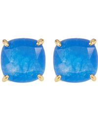 Ariella Collection - Semi Precious Stud Earrings - Lyst