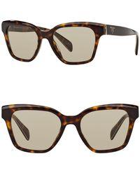 74be0df4210 Prada 57mm Phatos Aviator Sunglasses in Metallic - Lyst