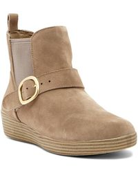 Fitflop - Super Buckle Suede Chelsea Boot - Lyst