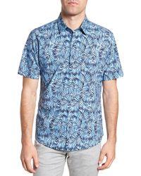 Zachary Prell - Slack Palm Print Sport Shirt - Lyst