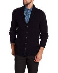 John Varvatos - Shawl Collar Cardigan - Lyst