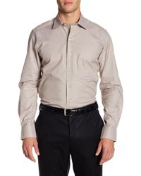 David Donahue - Micro Houndstooth Print Regular Fit Shirt - Lyst