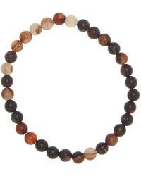 Link Up - Matte Black Agate Beaded Bracelet - Lyst