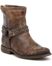 Frye - Phillip Studded Leather Ankle Boots - Lyst