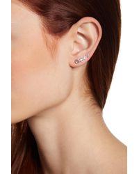 Judith Jack - Sterling Silver Crystal Climber Earrings - Lyst