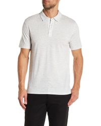 Vince - Mixed Knit Polo Shirt - Lyst