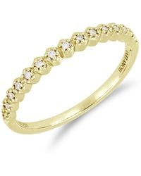 Bony Levy - 18k Yellow Gold Prong Set Diamond Accent Ring - 0.08 Ctw - Lyst