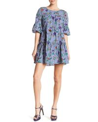 Romeo and Juliet Couture - Floral & Gingham Ruffle Dress - Lyst