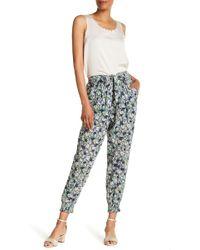 La Vie Rebecca Taylor - Floral Print Pants - Lyst