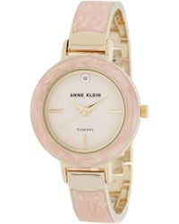 Anne Klein - Women's Diamond Accent Bangle Watch, 34mm - Lyst