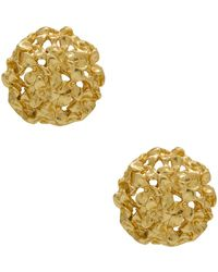 Karine Sultan - Scherazade Floral Stud Earrings - Lyst