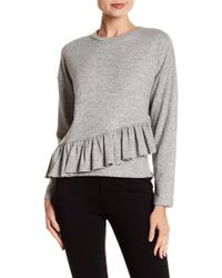 NYTT - Assymetrical Ruffle Hi-lo Sweater - Lyst