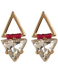 Rebecca Minkoff - Thread Wrapped Geometric Stud Earrings - Lyst