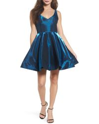 Xscape - Shimmer Fit & Flare Dress - Lyst
