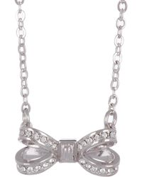 Ted Baker - Mini Opulent Swarovski Crystal Accented Bow Pendant Necklace - Lyst