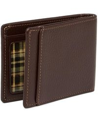 Boconi - Tyler Pebbled Leather Slimster Bifold Wallet - Lyst