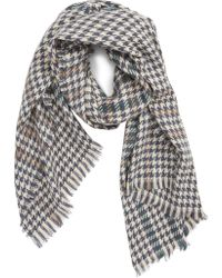 Saachi - Houndstooth Plaid Oblong Scarf - Lyst
