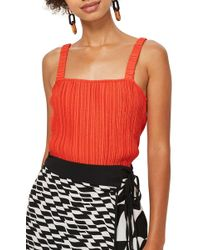 TOPSHOP - Crinkle Camisole - Lyst