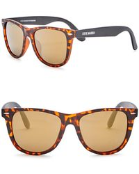 Steve Madden - 54mm Square Polarized Acetate Frame Sunglasses - Lyst