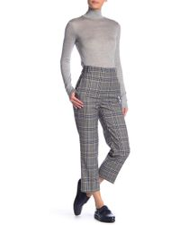 Tibi - Lucas Suiting Taylor Mid-rise Crop Trousers - Lyst
