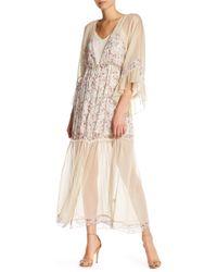 Blush Noir - Floral Mixed Pattern Kimono Dress - Lyst