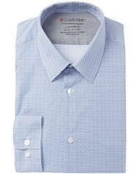 Calvin Klein - Printed Slim Fit Dress Shirt - Lyst