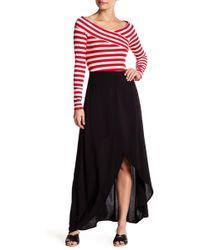 Love, Fire - Faux Wrap Maxi Skirt - Lyst