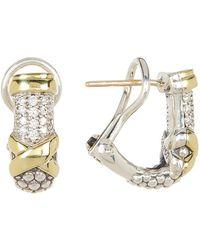 Lagos - Lux Diamond Half Hoop Earrings - 0.26 Ctw - Lyst