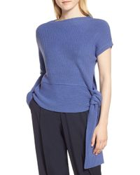 LEWIT - Asymmetrical Merino Wool Sweater - Lyst