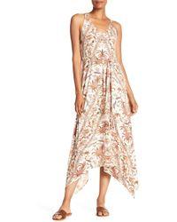 Lucky Brand - V-neck Printed Maxi Dress - Lyst