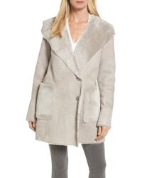 Hide Society - Patch Genuine Shearling Coat - Lyst