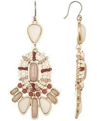 Lucky Brand - Seed Bead Dangle Earrings - Lyst