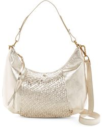 Elliott Lucca - Intreccio Leather Hobo Bag - Lyst