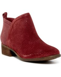 TOMS - Deia Perforated Suede Boot - Lyst