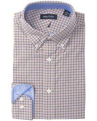 Nautica - Small Tattersall Classic Fit Dress Shirt - Lyst