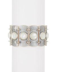 Lucky Brand - Bezel Set Opalescent Enamel Statement Bracelet - Lyst