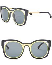 Emporio Armani - 52mm Cat Eye Acetate & Metal Frame Sunglasses - Lyst