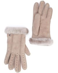 UGG - Classic Perforated Genuine Dyed Shearling Gloves - Lyst