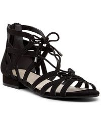 Kenneth Cole - Villa Caged Lace-up Sandal - Lyst