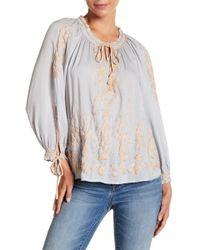 Lucky Brand - Embroidered Boho Blouse - Lyst