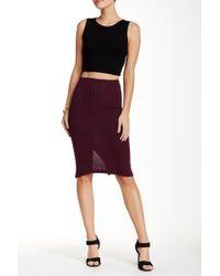 Lily White - Medi Solid Skirt - Lyst